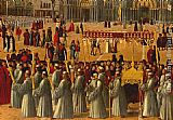 Gentile Bellini Procession in Piazza S. Marco [detail] painting